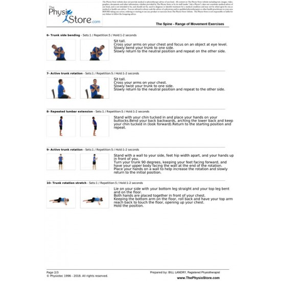 Spinal Mobility Exercises