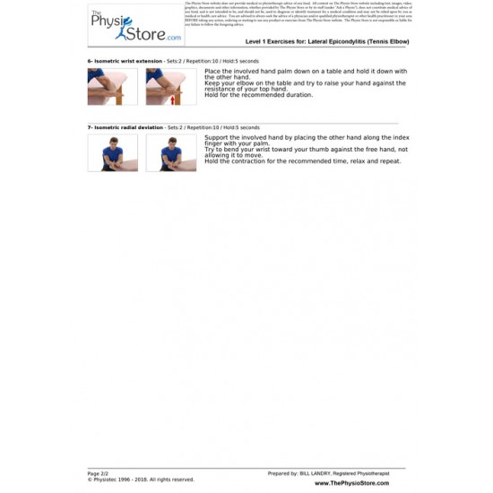 Lateral Epicondylitis (Tennis Elbow) Exercises