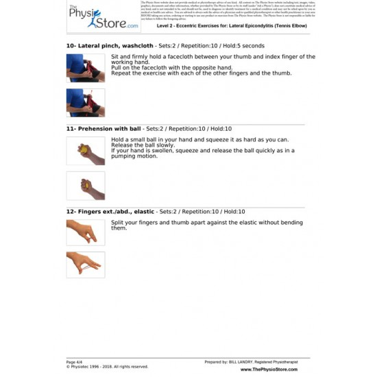 Lateral Epicondylitis (Tennis Elbow) Exercises | The Physio Store
