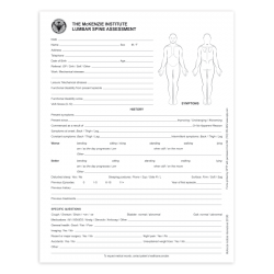 Lumbar Spine Assessment Forms - McKenzie Institute