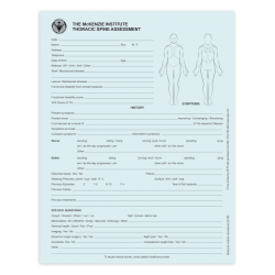Thoracic Spine Assessment Forms - McKenzie Institute