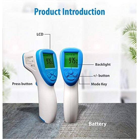 Medical Non-Contact Forehead Infrared (IR) Thermometer