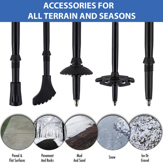 Walking Poles - Professional Carbon Fibre by Physiotherapy Room
