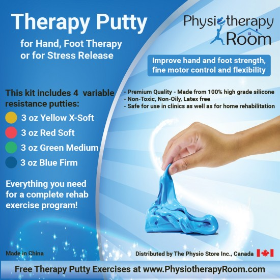 Exercise Therapy Putty Kit - Set of 4