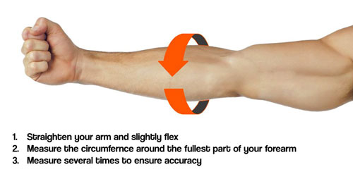 Forearm circumference Physiotherapy Room Canada Injuries
